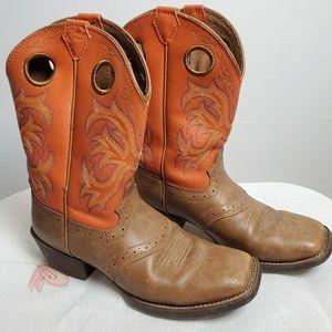 Justin Kids Stampede  Boots size 2 1/2